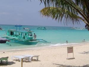 bateau sur l'île de Boracay